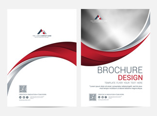 Brochure Layout template, Leaflet Flyer cover design background Wall mural