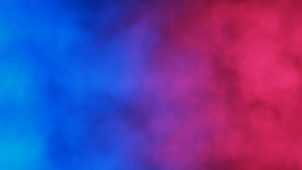 Blue and red abstract cloud of smoke pattern