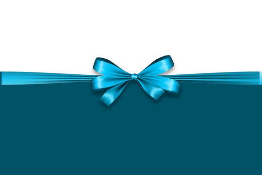 Holiday satin gift bow knot ribbon man blue