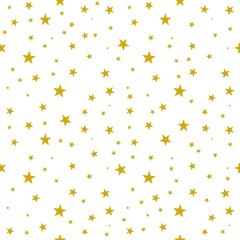 seamless background with stars pattern gold yellow