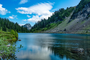 TWIN LAKES, MT BAKE NATIONAL FOREST WA