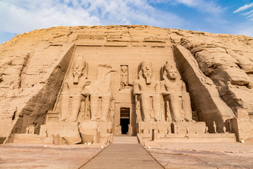 Foto op Aluminium Bedehuis Abu Simbel temple, a magnificent landmark built by pharaoh Ramesses the Great, Egypt
