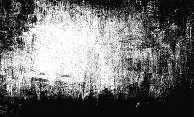 Scratched and Cracked Grunge Urban Background Texture Vector. Dust Overlay Distress Grainy Grungy Effect. Distressed Backdrop Vector Illustration. Isolated Black on White Background. EPS 10.