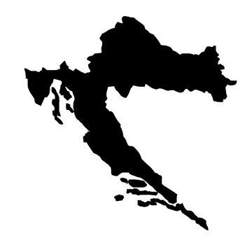 Croatia Map Silhouette