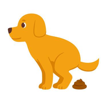 Cartoon dog pooping