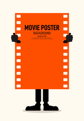Movie and film festival poster modern vintage retro style