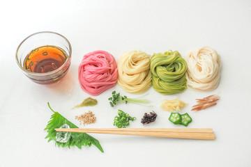 そうめん japanese summer thin noodles (somen)