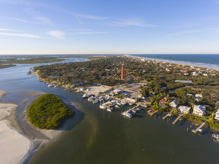 Ponce de Leon Inlet Lighthouse is a National Historic Landmark in town of Ponce Inlet in Central Florida, USA.