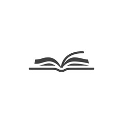 Open book vector icon. filled flat sign for mobile concept and web design. Book pages glyph icon. Symbol, logo illustration. Vector graphics