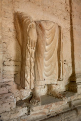 The Buddha statue of Jaulian archaeological Complex, in the Khyber Pakhtunkhwa Province of Northern Pakistan