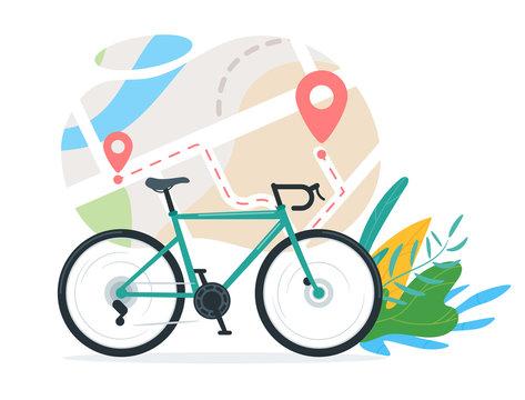Urban travel, transportation vector illustration