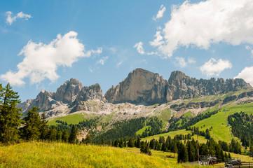 Dolomiten, Eggental, Latemar, Latemargruppe, Rosengarten, Wanderweg, Südtirol, Sommer, Italien