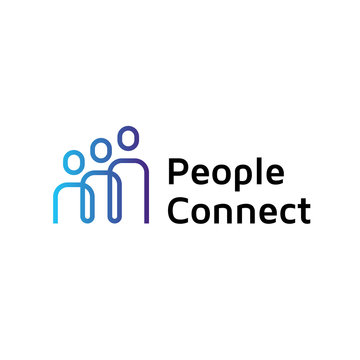 People Connect Logo Design Template