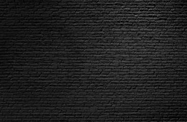 Light on Black Brick Wall Background