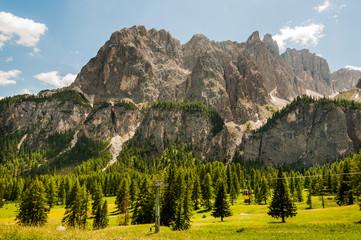 Dolomiten, Sellagruppe,  Grödnerjoch, Berge, Passstrasse, Wanderweg, Klettersteig, Südtirol, Italien
