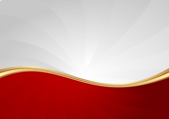 red and white abstract wavy background Fototapete