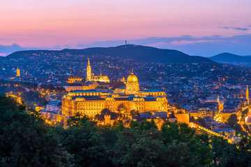 Fotomurales - Budapest skyline in Hungary