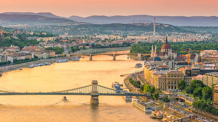 Foto op Canvas Boedapest Budapest skyline in Hungary