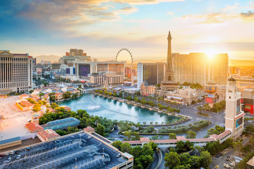 Fotomurales - cityscape of Las Vegas from top view in Nevada, USA