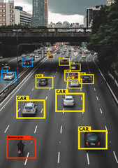 Machine Learning and AI to Identify Objects technology, Artificial intelligence concept. Image processing, Recognition technology.