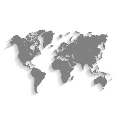 3d World Gray Map with Flat Shadow