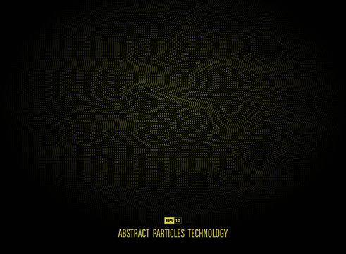 Abstract yellow particles dot technology decoration background. illustration vector eps10