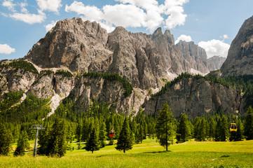 Dolomiten, Sellagruppe, Grödner Joch, Val de Misdé, Berge, Wanderweg, Klettersteig, Südtirol, Italien