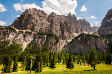 Dolomiten, Grödner Joch, Sellagruppe, Val de Misdé, Berge, Wanderweg, Klettersteig, Südtirol, Italien