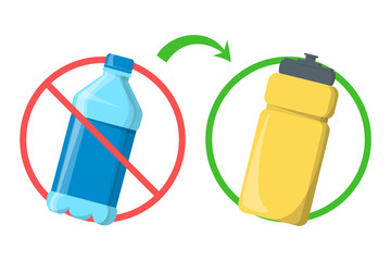 Stop using plastic bottle and replace with reusable container