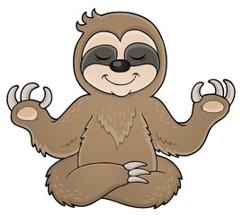 Happy sloth theme image 1