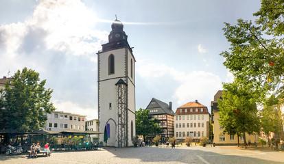 Wall Mural - Kirchplatz mit Kirchturm, Giessen, Deutschland