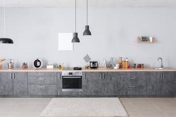 Fototapeta Interior of modern comfortable kitchen obraz