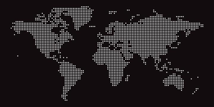 Dotted world map design. vector illustration