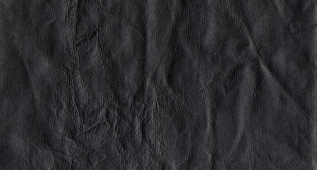A photo of a leather texture in black color.