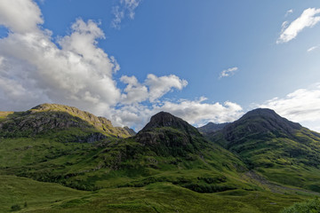 The three sisters, Glencoe Valley, The Highlands, Scotland, United Kingdom
