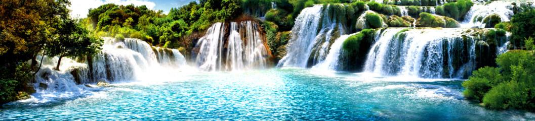 Zelfklevend Fotobehang Watervallen Şelale Manzara Resimi VGC