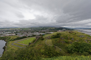 Dumbarton castle, near Glasgow, Scotland, UK
