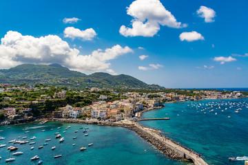 Amazing cityscape of Ischia Ponte, Ischia island, Italy