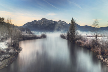 Wall Mural - Winter am See