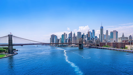 Wall Mural - panoramic view at the skyline of manhattan