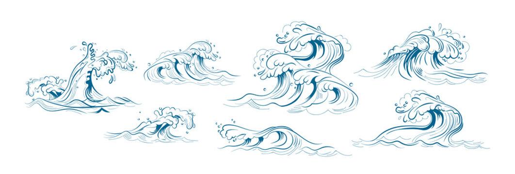 Sea waves set
