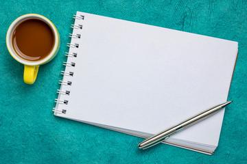 blank spiral art sketchbook