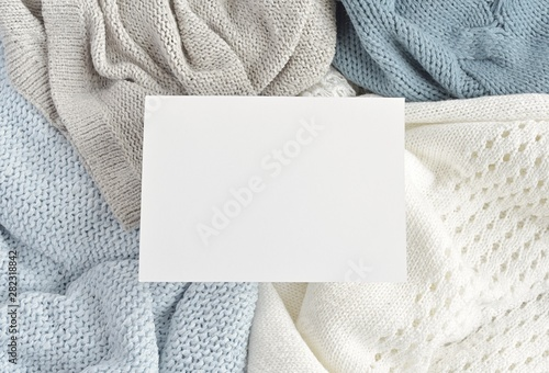 Winter fashion sale, new collection banner mock up, blank
