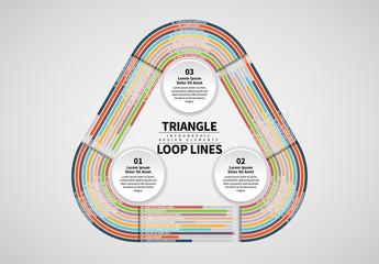 Triangle Progress Graph Info Chart with 10 Bars