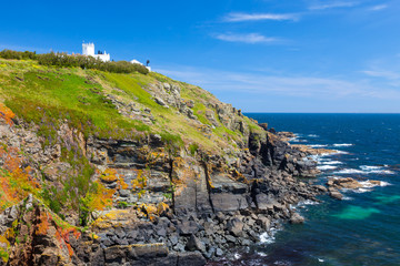 Wall Mural - Lizard Lighthouse above Polbream Cove Cornwall England UK Europe