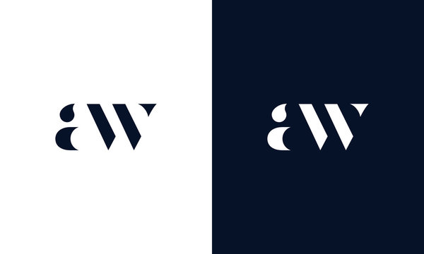 Abstract letter AW logo. This logo icon incorporate with abstract shape in the creative way. It look like letter AW.