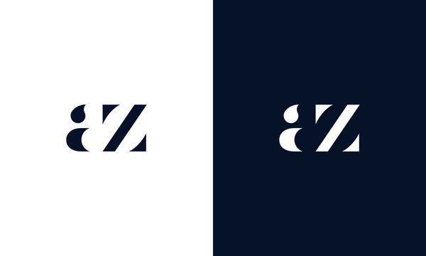 Abstract letter Az logo. This logo icon incorporate with abstract shape in the creative way. It look like letter Az.