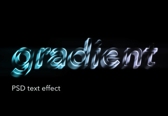 Abstract Gradient Text Effect