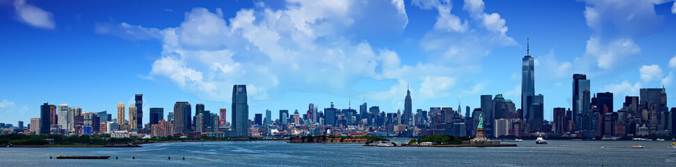 Fototapete - Panoramic view of the New York City skyline