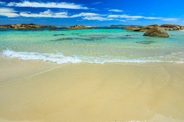 Greens Pool in William Bay National Park, Albany, Western Australia. Wallpaper sea background. Summer holidays destination.